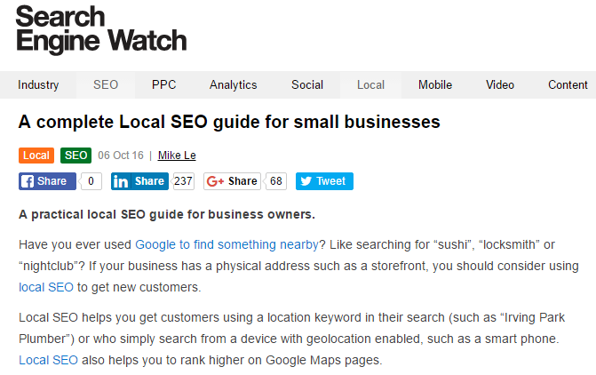 A complete local SEO guide for small businesses