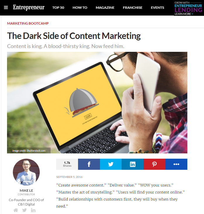 The dark side of Content marketing