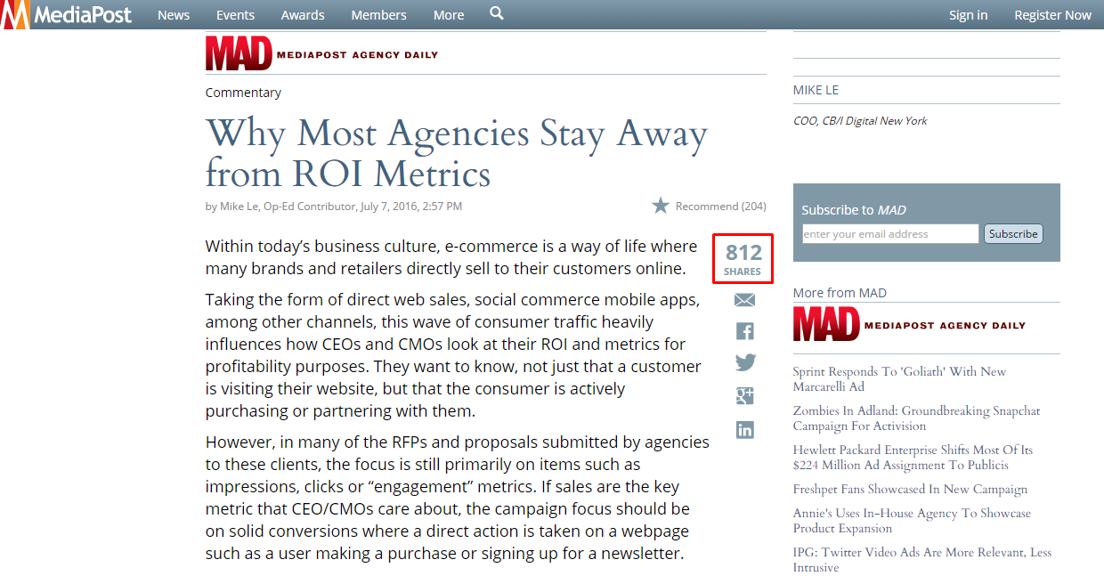 Why most agencies stay away from ROI metrics